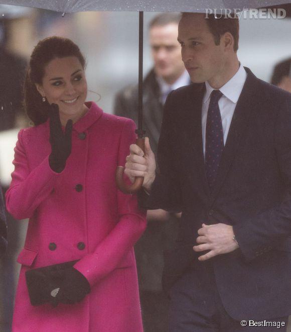 Kate Middleton et le prince William, hier sous la pluie new-yorkaise.