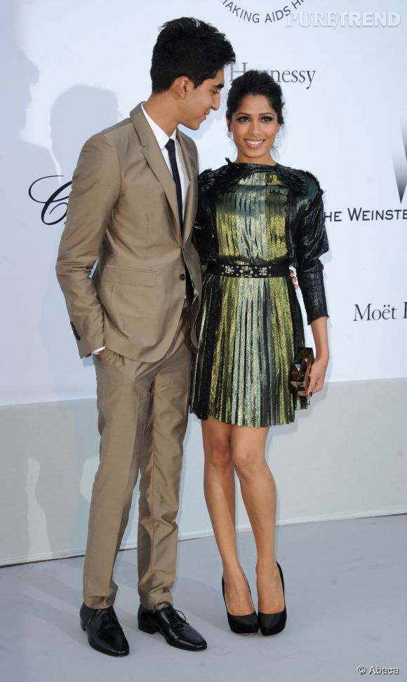 En mai 2011, les deux acteurs sont présents au Festival de Cannes. Au gala de l'amfAR, Dev Patel couve tendrement sa douce du regard. Le couple parfait !