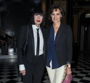 Chantal Thomass et Inès de la Fressange (les vraies) ont pris la pose côte à côte.