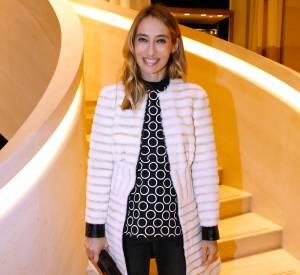 Alexandra Golovanoff à l'inauguration de la nouvelle boutique Louis Vuitton, ce lundi 15 décembre 2014.