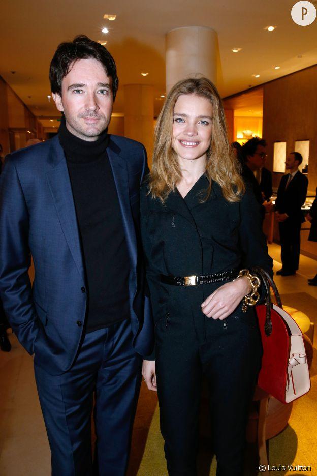 Natalia Vodianova et Antoine Arnault à l'inauguration de la nouvelle boutique Louis Vuitton, ce lundi 15 décembre 2014.