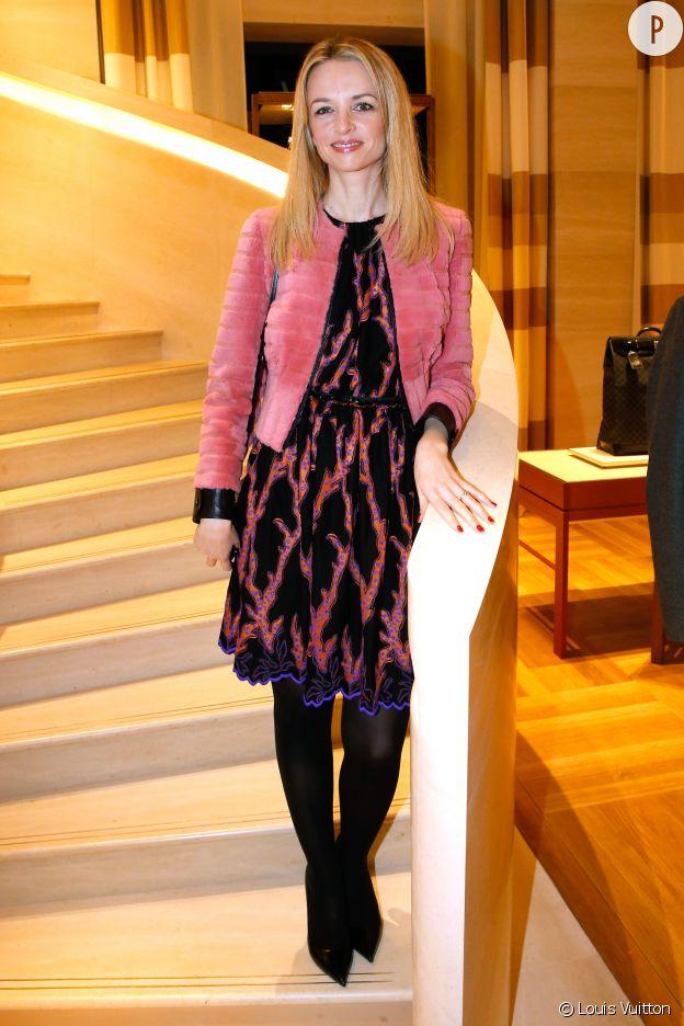 Delphine Arnault à l'inauguration de la nouvelle boutique Louis Vuitton.