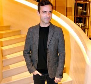 Nicolas Ghesquiere à l'inauguration de la nouvelle boutique Louis Vuitton, ce lundi 15 décembre 2014.