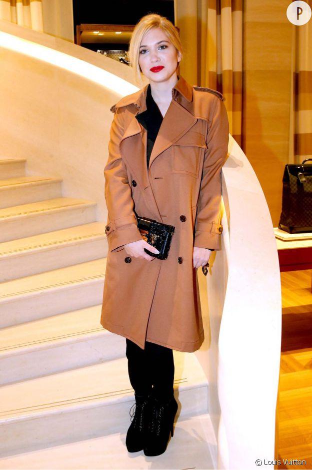 Camille Seydoux à l'inauguration de la nouvelle boutique Louis Vuitton, ce lundi 15 décembre 2014.