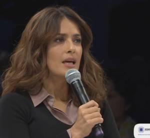 Salma Hayek au 10ème anniversaire du Women's Forum en octobre 2014.