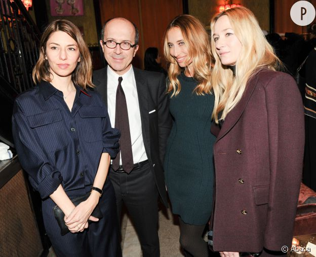 Sofia Coppola, Jean-Marc Loubier, Alexandra Golovanoff et Julie de Libran lors du défilé de la collection pre-fall 2015 de Sonia Rykiel, ce mardi 6 janvier 2015 à New York.