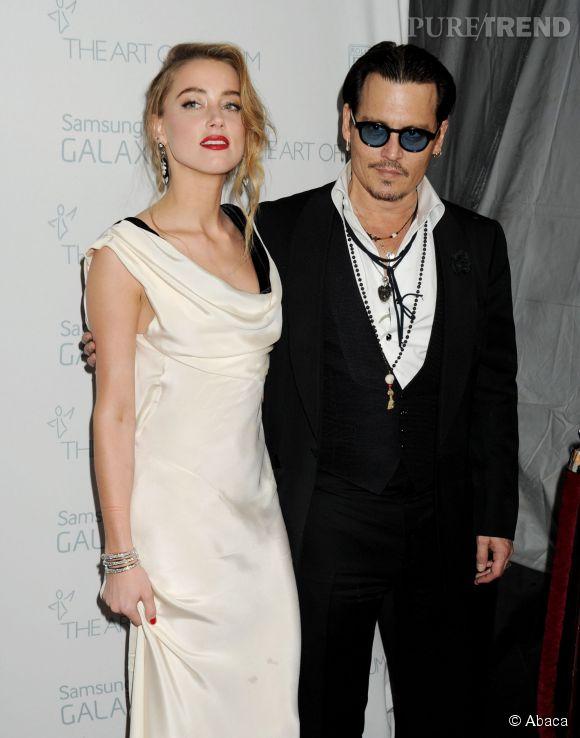 Johnny Depp et Amber Heard à la soirée organisée par The Art of Elysium, samedi soir à Los Angeles.