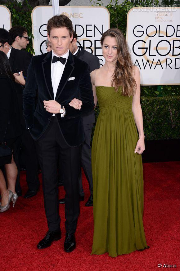 Eddie Redmayne  et sa jeune épouse aux Golden Globes 2015 le 11 janvier.