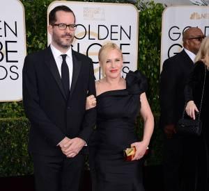 Patricia Arquette et son compagnon Eric White aux Golden Globes 2015 le 11 janvier.