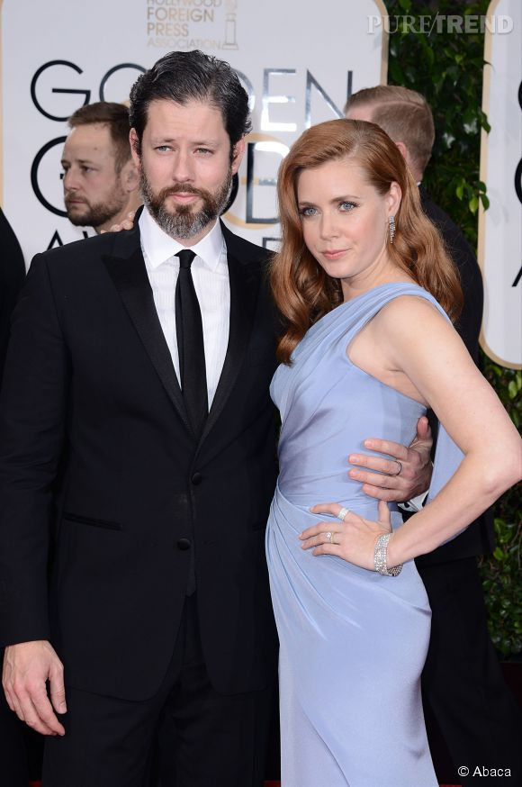 Amy Adams et son mari aux Golden Globes 2015 le 11 janvier.