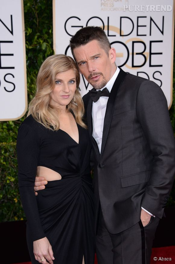 Ethan Hawke et sa jolie épouse aux Golden Globes 2015 le 11 janvier.
