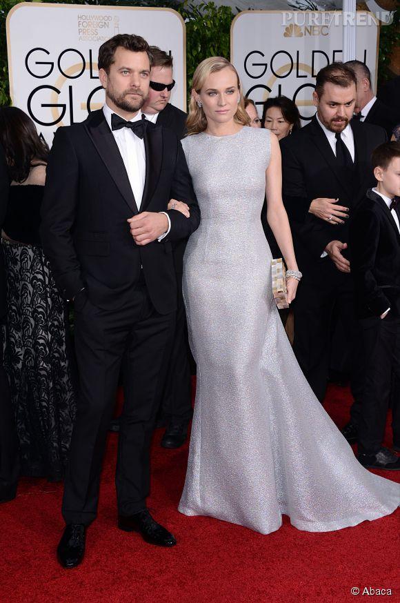 Diane Kruger et Joshua Jackson aux Golden Globes 2015 le 11 janvier.