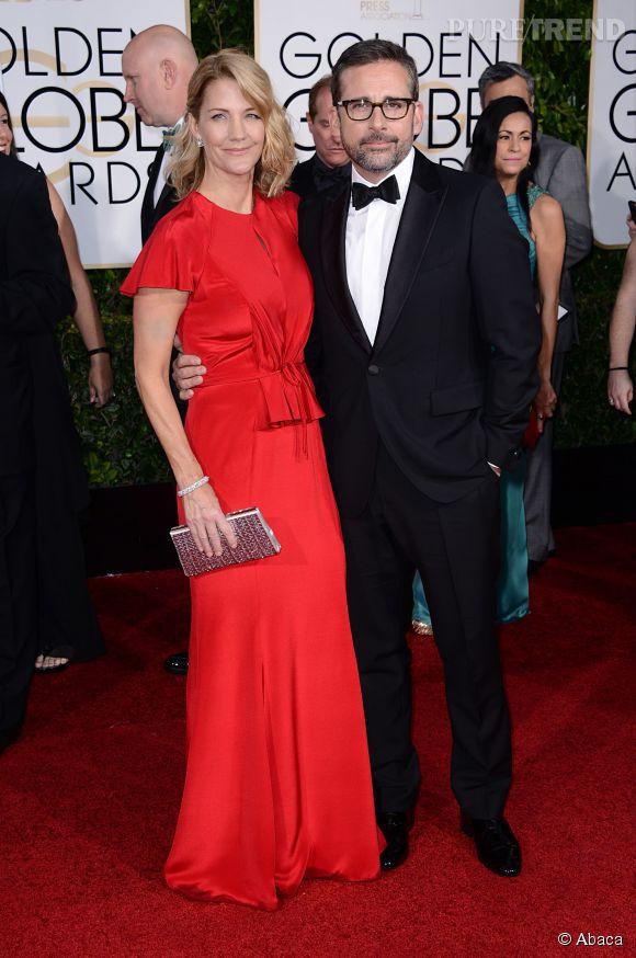 Madame et Monsieur Carrel aux Golden Globes 2015 le 11 janvier.