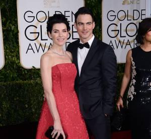 Julianna Margulies bien accompagnée aux Golden Globes 2015 le 11 janvier.