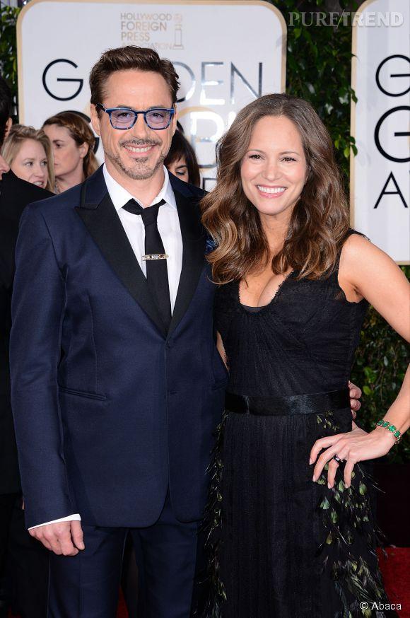 Robert Downey Jr et sa femme Susan aux Golden Globes 2015 le 11 janvier.