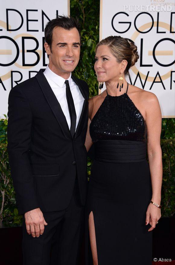 Jennifer Aniston et Justin Theroux ont également fait le miel des photographes aux Golden Globes 2015 le 11 janvier.