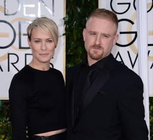 Robin Wright et Ben Foster aux Golden Globes 2015 le 11 janvier.