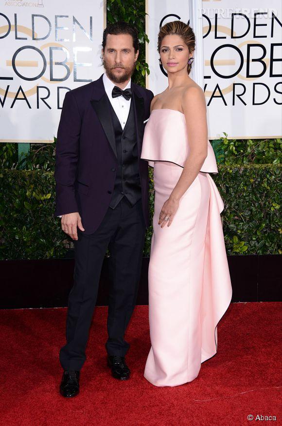 Matthew McConaughey et Camila Alves aux Golden Globes 2015 le 11 janvier.