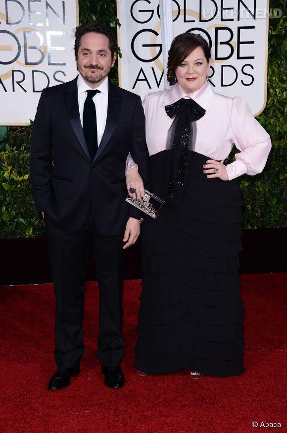 Melissa McCarthy et son mari aux Golden Globes 2015 le 11 janvier.