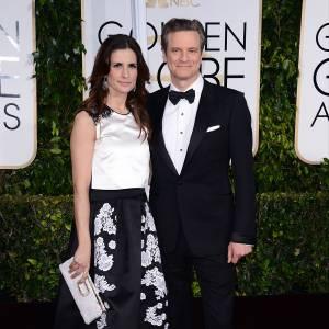 Colin Firth et son épouse aux Golden Globes 2015 le 11 janvier.