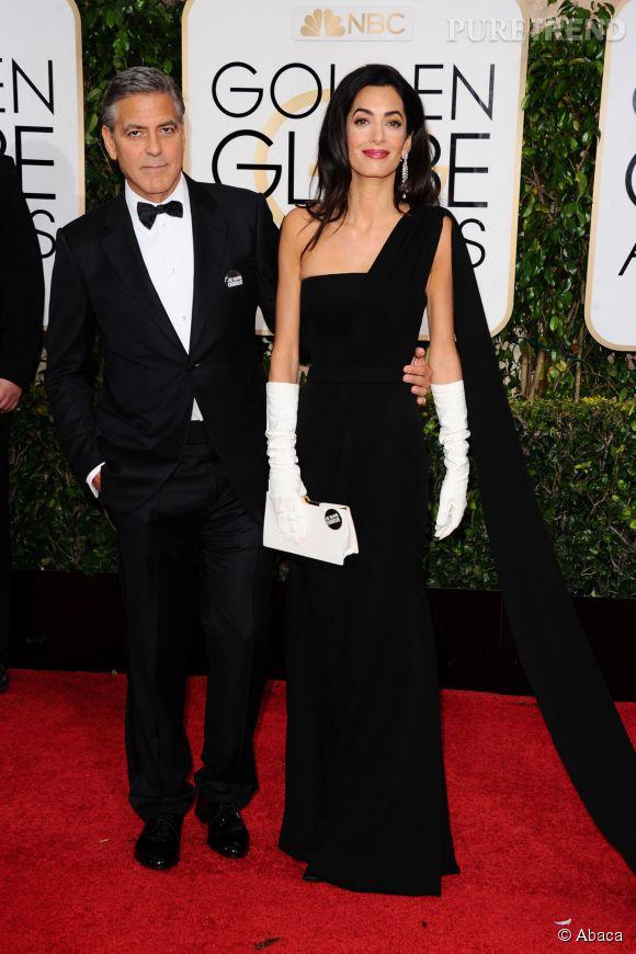 George et Amal Clooney aux Golden Globes 2015 le 11 janvier.