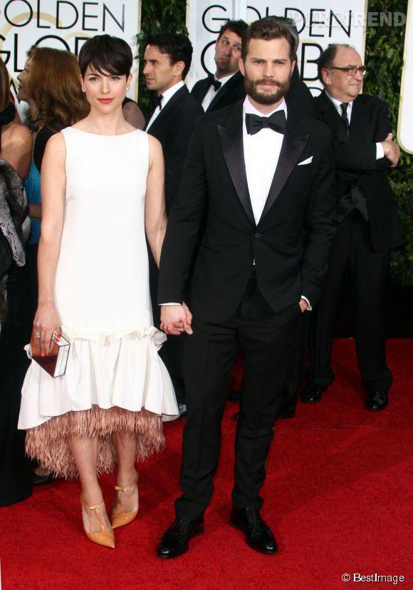 Jamie Dornan et sa femme aux Golden Globes 2015.