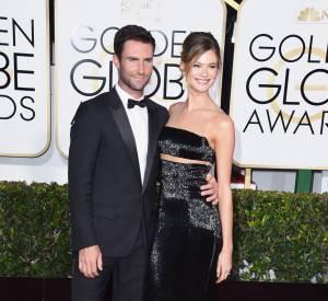 Adam Levine et la sublime Behati Prinsloo aux Golden Globes 2015.