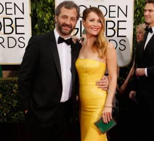 Leslie Mann et Judd Apatow aux Golden Globes 2015.