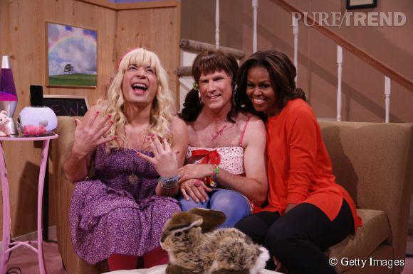 La First Lady fait des soirées pyjamas avec Jimmy Fallon et Will Ferrell.