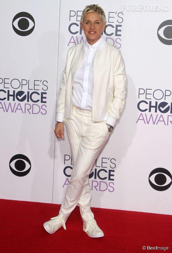 Ellen DeGeneres à la cérémonie des People's Choice Awards le 7 janvier 2015.