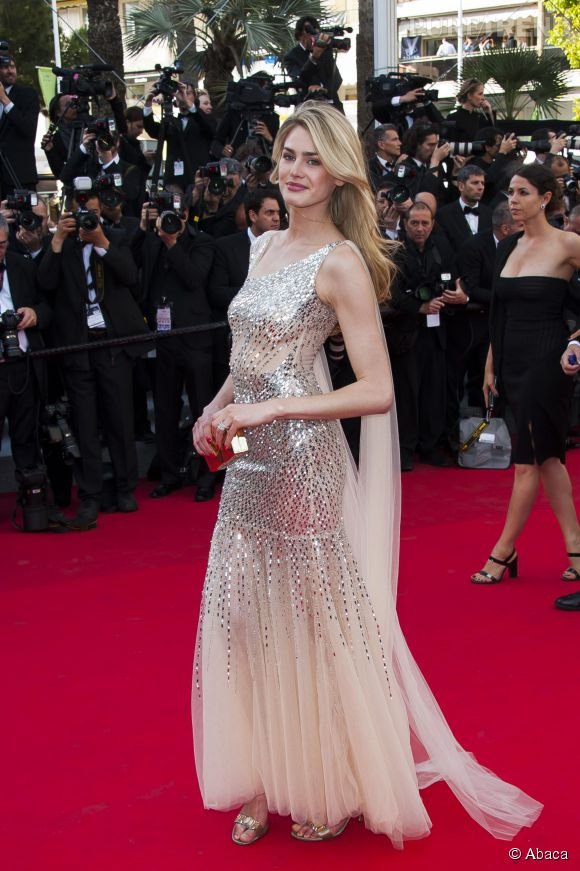 Vanessa Hessler, jolie naïade au Festival de Cannes 2014.