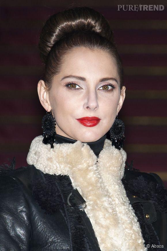 Frédérique Bel, la Geisha du défilé Haute Couture Atelier Versace Printemps-Été 2015.