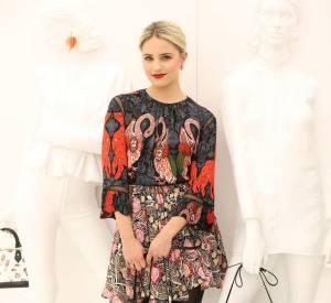 """Dianna Agron lors du vernissage de l'exposition """"Séries 2"""" présentée par Louis Vuiton à Los Angeles le 5 février 2015."""