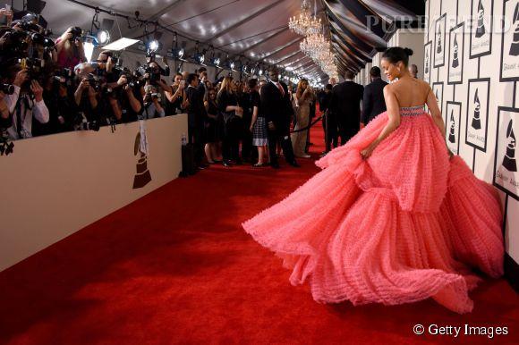 Rihanna lors de la 57ème cérémonie des Grammy Awards le 8 février 2015 à Los Angeles.