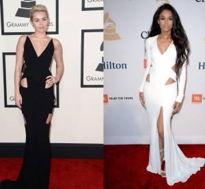 Miley Cyrus vs Ciara : la robe aux découpes sexy Alexandre Vauthier