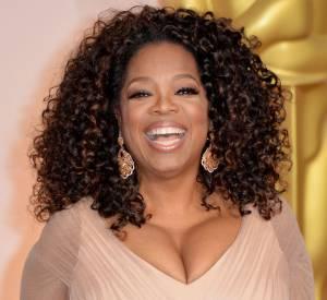 Oprah sur le red carpet des Oscars 2015.