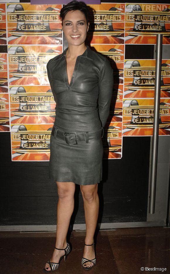 Alessandra Sublet en robe moulante aux Trophées des jeunes talents, en 2008.