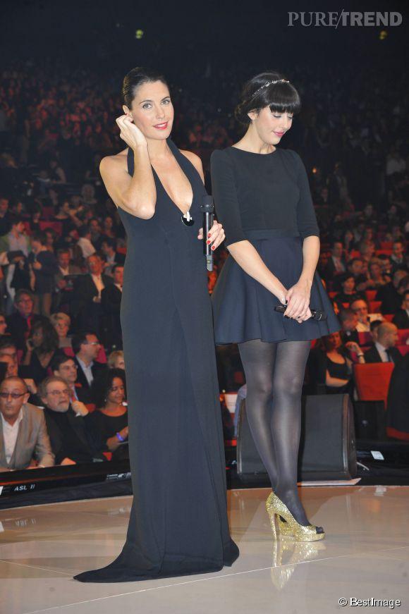 Alessandra Sublet et son décolleté XXL aux 27e Victoires de la musique, en 2012.