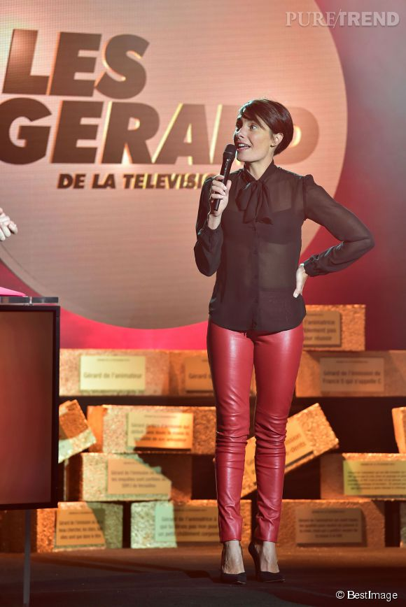 Aux Gérard de la télé 2015, Alessandra Sublet a déboulé en chemise transparente.