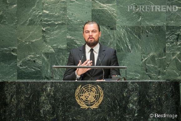 Fervent défenseur de l'environnement, Leonard DiCaprio a été nommé messager de la paix à l'ONU. Son cheval de bataille : la lutte contre le réchauffement climatique.