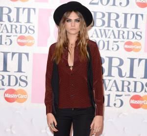 Cara Delevingne : chapeau et chemise à pois, on copie son look !