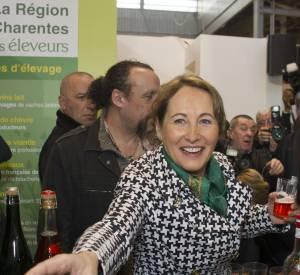 Ségolène Royal n'a pas rechigné à savourer les produits du terroir français.