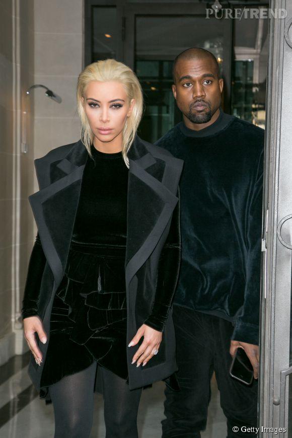 Kim Kardashian et Kanye West sont à Paris pour la Fashion Week.