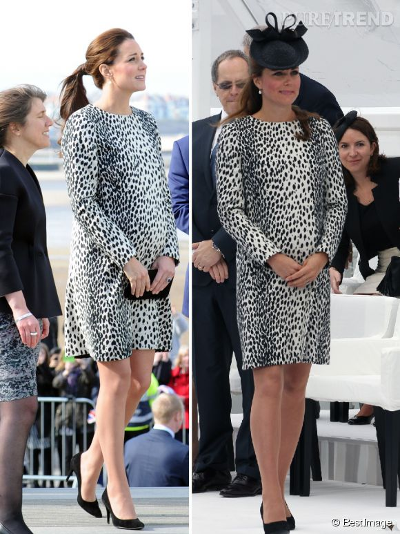 Enceinte, Kate Middleton recycle sa robe léopard.