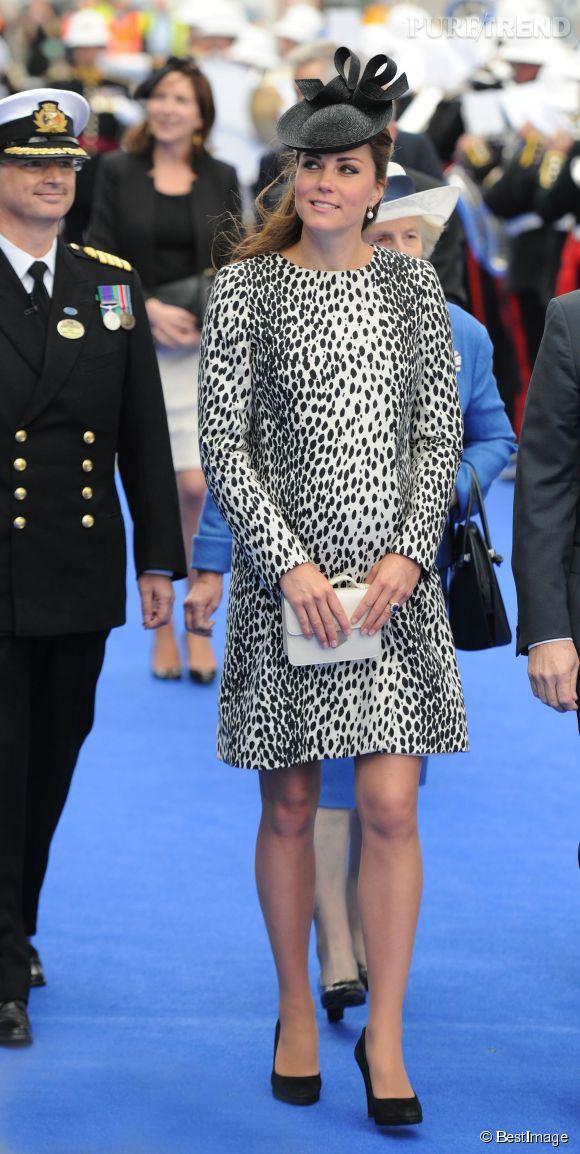 Kate Middleton avait déjà porté cette robe léopard en juin 2013, alors qu'elle était enceinte du prince George.