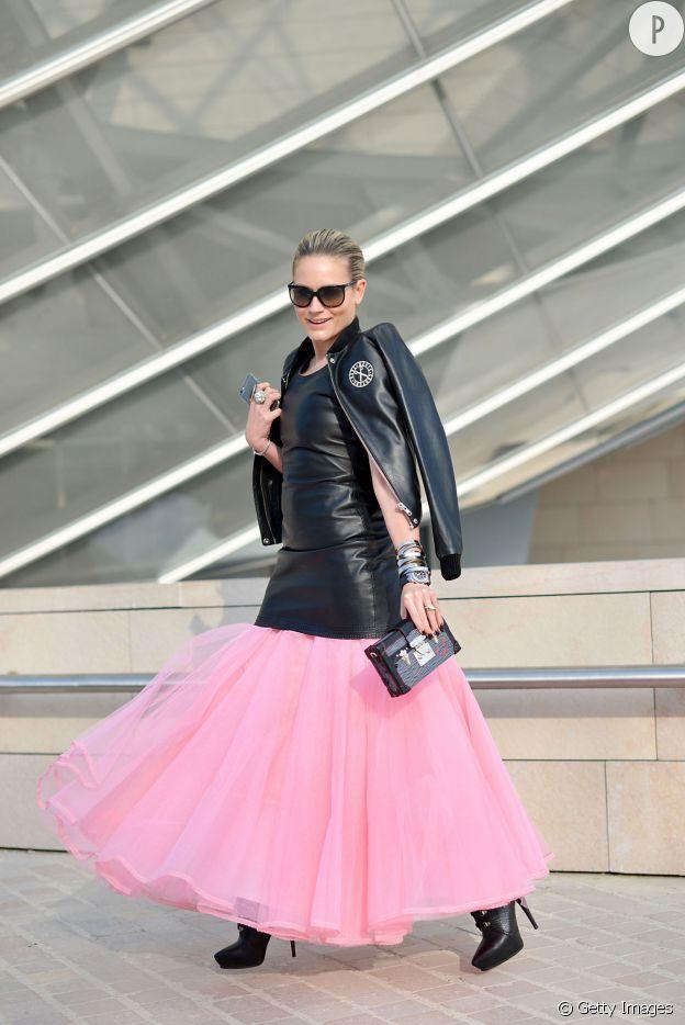 Street Style Fashion Week Automne-Hiver 2015/2016 Paris.