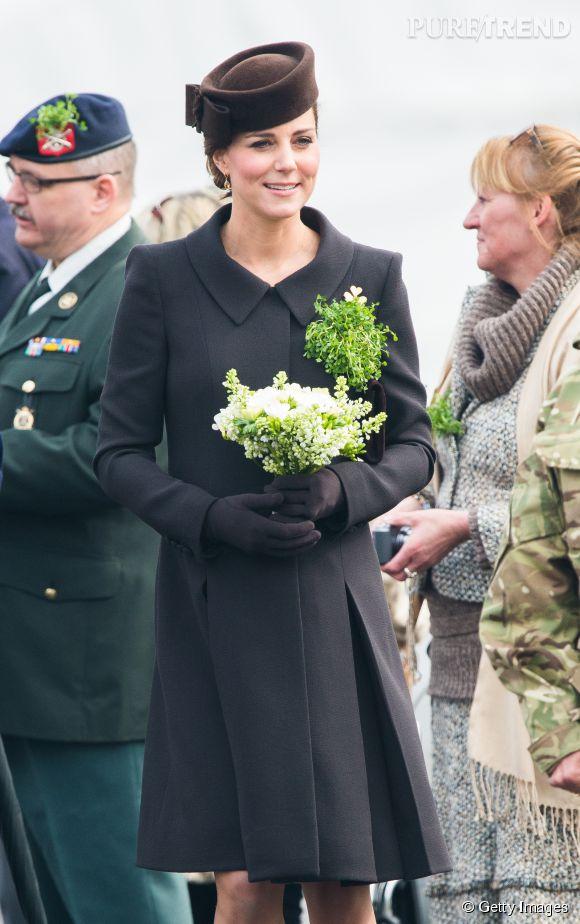 Kate Middleton, ravissante pour la Saint Patrick.