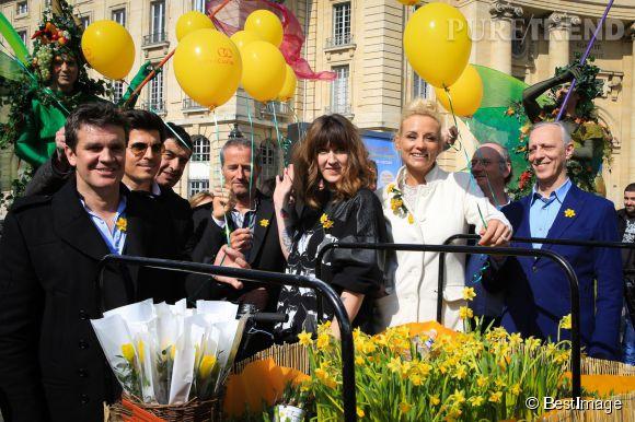 Daphné Bürki et Élodie Gossuin, ce mercredi 18 mars 2015.