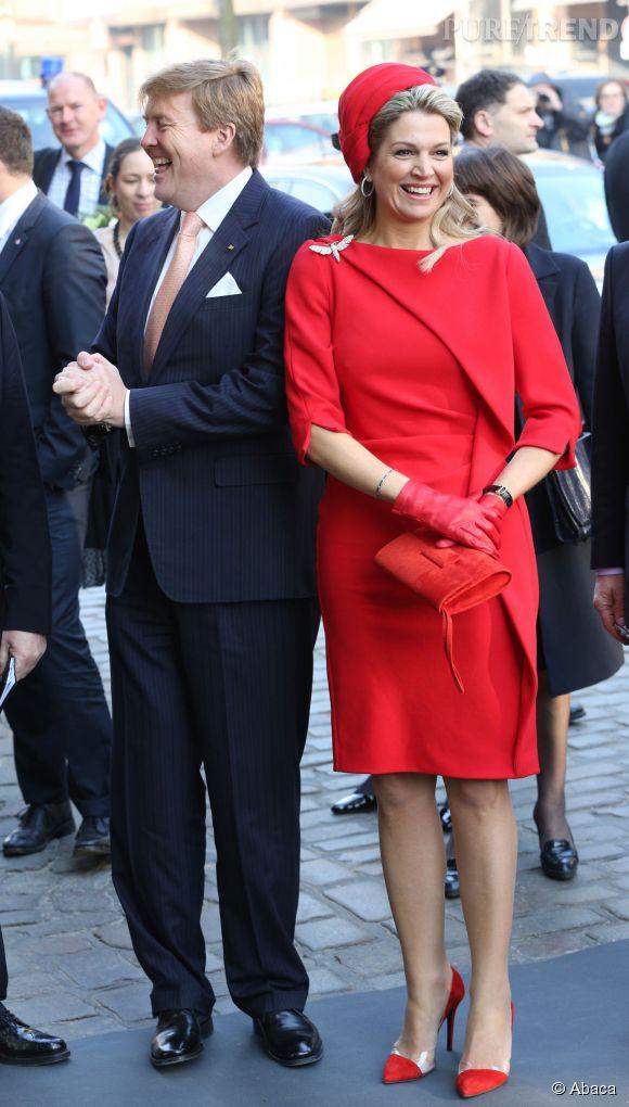 La reine Maxima des Pays-Bas en visite officielle en Allemagne le 20 mars 2015.