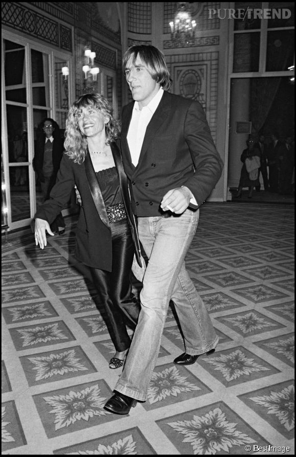 Gérard Depardieu et Elisabeth Guignot en 1980.